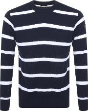 Paul And Shark Striped Knit Jumper