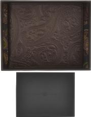 Pretty Green Paisley Embossed Bifold Wallet Brown