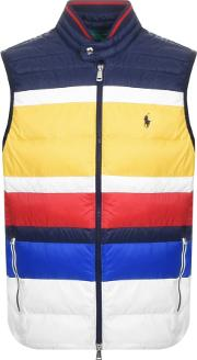 Bold Multi Stripe Gilet Navy