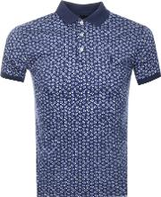 Slim Fit Floral Polo T Shirt