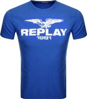 Replay Logo Crew Neck T Shirt