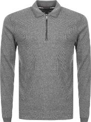 Caoco Half Zip Knitted Polo Jumper