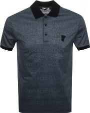 Patterned Polo T Shirt