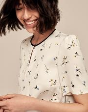 Floral Crew Neck Blouse