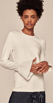 Fluted Sleeve Layering Tee