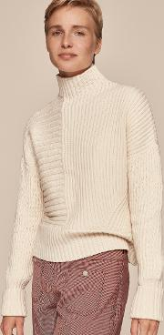 Funnel Neck Rib Jumper