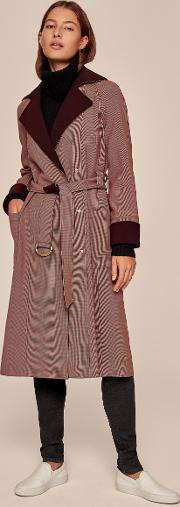 Microcheck Trench Coat