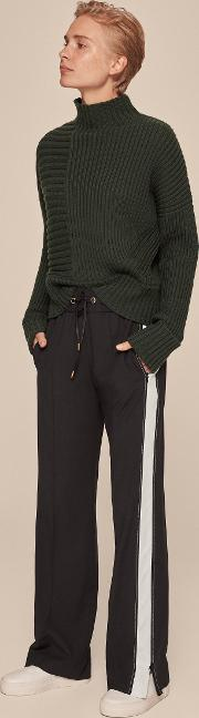 Tailored Crepe Track Pant