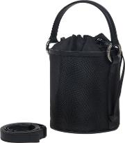 Santina Mini Bucket Bag Black Net
