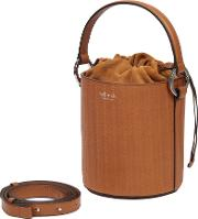 Santina Mini Bucket Bag Tan Woven