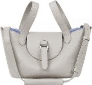 Thela Mini Cross Body Bag Taupe And Lavender