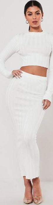 Co Ord Extreme Rib Knitted Maxi Skirt