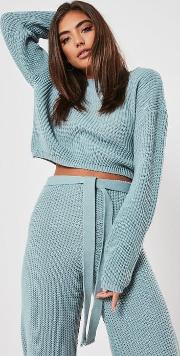 Co Ord Super Cropped Knitted Jumper