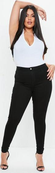 Curve Black High Waist Superstretch Skinny Jeans