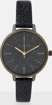 Glitter Strap And Dial Watch