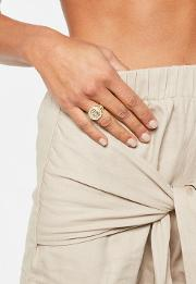 Gold Coin Sovereign Ring