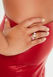 Gold Love 4 Ring Pack