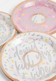 Holographic Donut Paper Plates