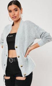 Horn Button Knitted Cardigan