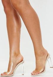 Illusion Heels Clear Mules