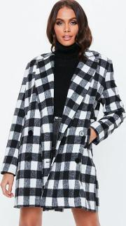Monochrome Double Breasted Formal Coat