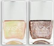 Nails Inc Champagne Shine Nail Polish Duo