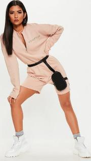 Nude New Generation Zip Front Playsuit
