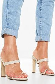 Nude Toe Post Barely There Mules