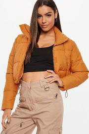 Orange Crop Oversized Puffer Jacket