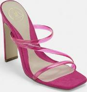 Pink Multi Transparent Strap Mules
