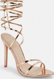 Rose Gold Pointed Toe Barely There Heels
