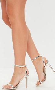Silver Pointed Toe Barely There Heels