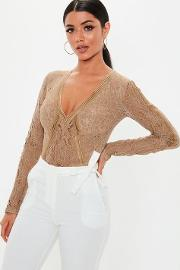 Taupe Sports Tape Bodysuit