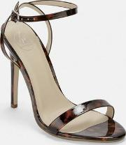 Tortoise Print Barely There Stiletto Heels