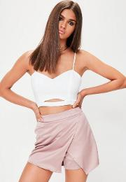 White Crepe Cut Out Bralet