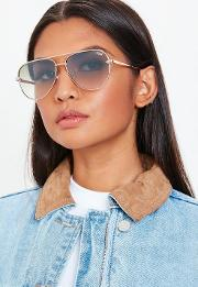 Quay Australia High Key Rose Gold Mini Sunglasses