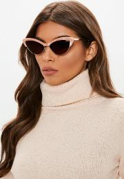 Quay Australia X Finders Keepers All Night Peach Pearl Sunglasses