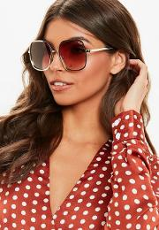 Quay Australia X Finders Keepers Undercover Gold Sunglasses