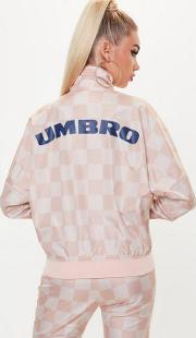 X Missguided Pink Oversized Batwing Track Top