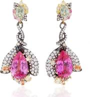 Anabela Chan M'o Exclusive Fuchsia Sapphire Earrings
