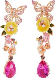 Anabela Chan M'o Exclusive Rose Vine Earrings