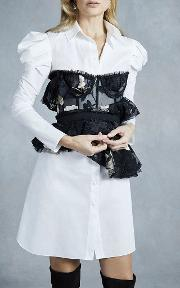 Tori Embroidered Tulle Top