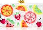 M'o Exclusive Jean Fruit Cocktail Acrylic Clutch