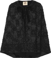 Jacqueline Embroidered Silk Capelet