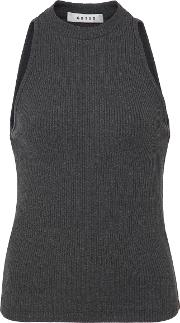 Getting Back To Square One Ribbed Knit Sleeveless Top