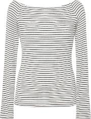 Getting Back To Square One Sailor Striped Long Sleeve Jersey Top