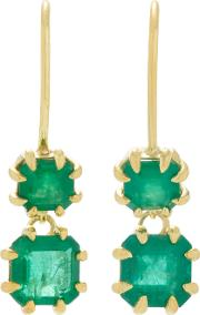 Ila Girard 14k Gold Emerald Earrings