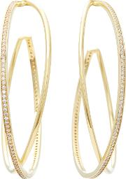 Gold Plated Criss Cross Hoop Earrings
