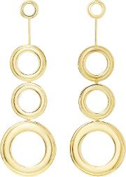 Gold Plated Grommets Statement Earrings