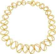 Gold Plated Multi Knot Choker Necklace